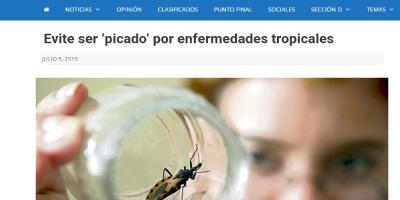 Evite ser 'picado' por enfermedades tropicales
