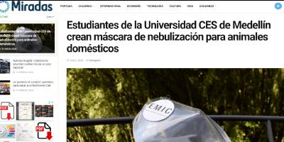 Estudiantes de la Universidad CES de Medellín crean máscara de nebulización para animales domésticos