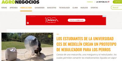Estudiantes de universidad ces de Medellín crean prototipo de nebulizador para perros