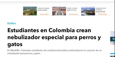 La Chiva de Urabá Facultad de Ingeniería Entérate Estudiantes en Colombia crean nebulizador especial para perros y gatos